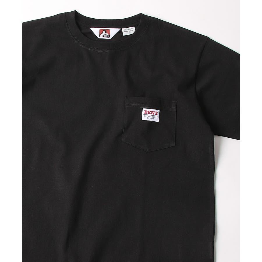 #Tシャツ メンズ カットソー 半袖 クルーネック ポケット付き ワンポイント 無地 別注 BEN DAVISベンデイビスZIPジップ 夏 夏物 夏服【9580044】D 21
