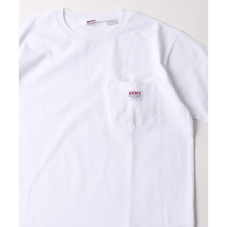 #Tシャツ メンズ カットソー 半袖 クルーネック ポケット付き ワンポイント 無地 別注 BEN DAVISベンデイビスZIPジップ 夏 夏物 夏服【9580044】D 16