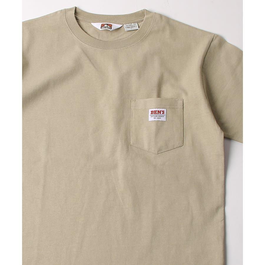 #Tシャツ メンズ カットソー 半袖 クルーネック ポケット付き ワンポイント 無地 別注 BEN DAVISベンデイビスZIPジップ 夏 夏物 夏服【9580044】D 41