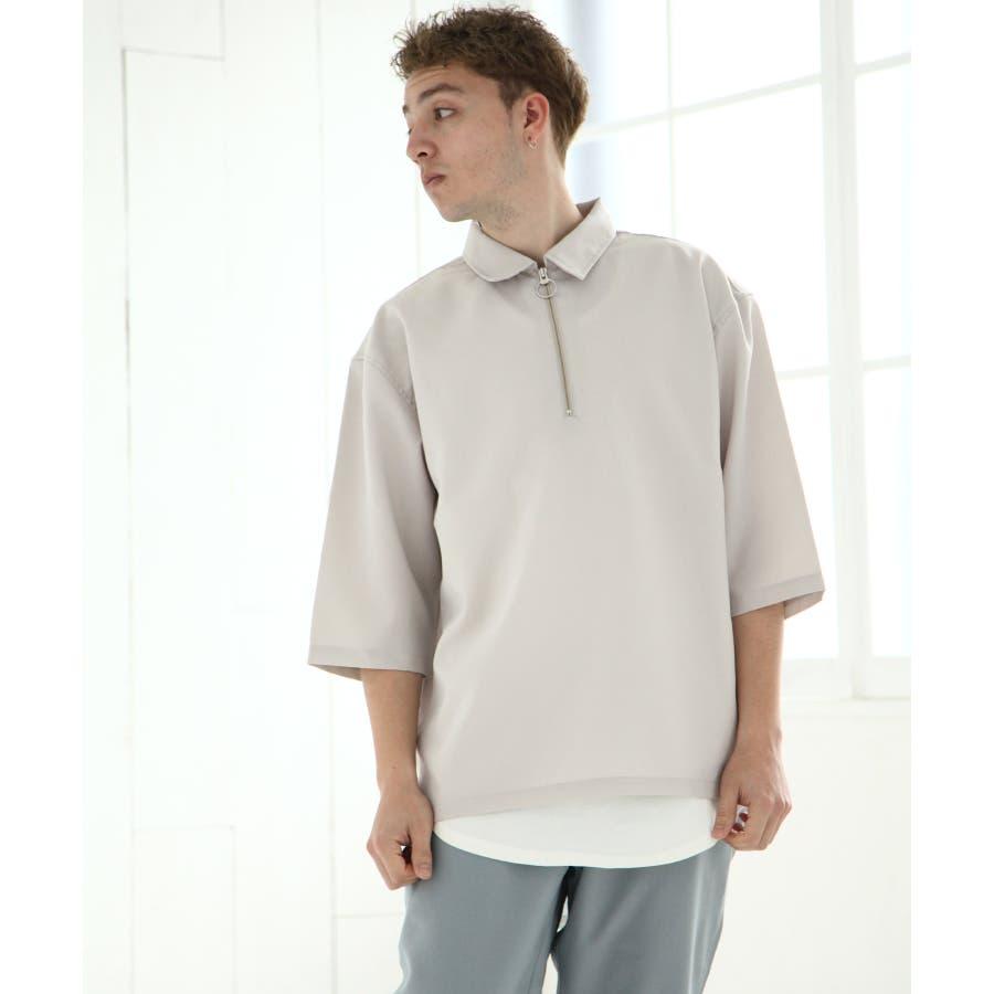 ポリトロ5分ハーフジップシャツ【160202bn】 41