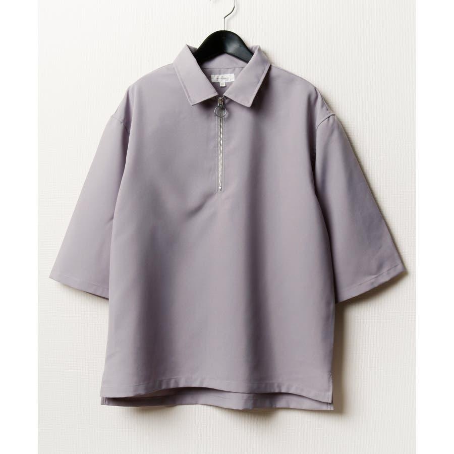 ポリトロ5分ハーフジップシャツ【160202bn】 23