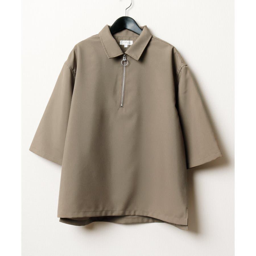 ポリトロ5分ハーフジップシャツ【160202bn】 53