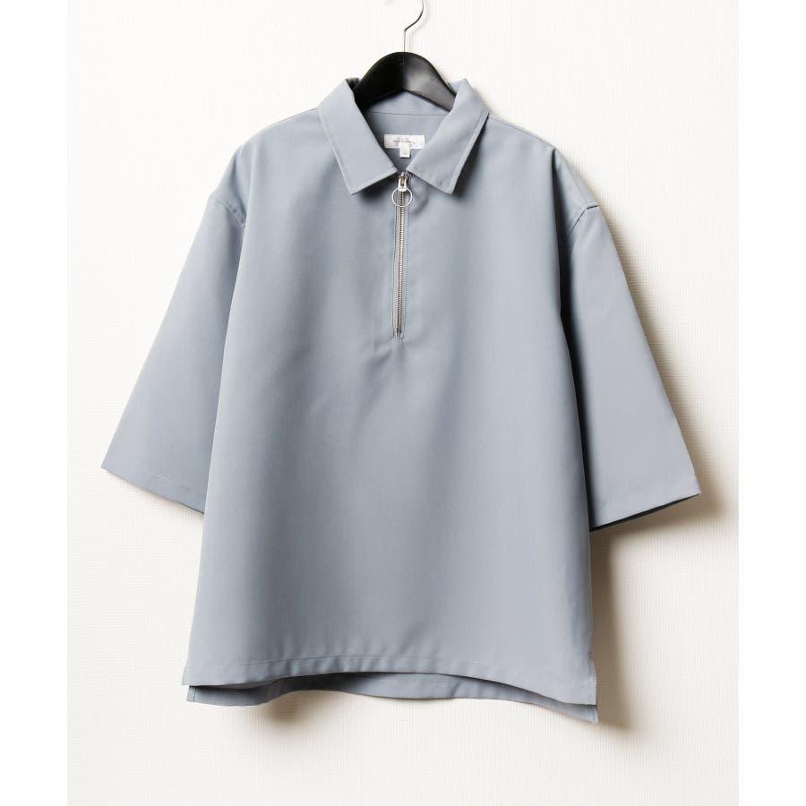 ポリトロ5分ハーフジップシャツ【160202bn】 76