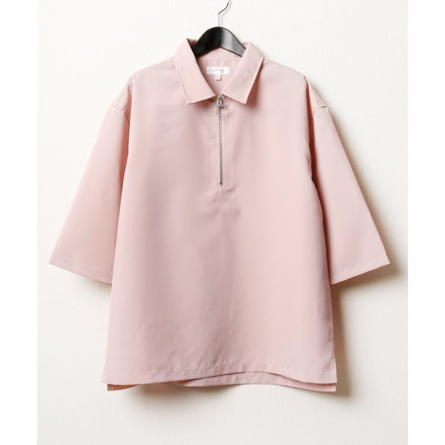 ポリトロ5分ハーフジップシャツ【160202bn】 87
