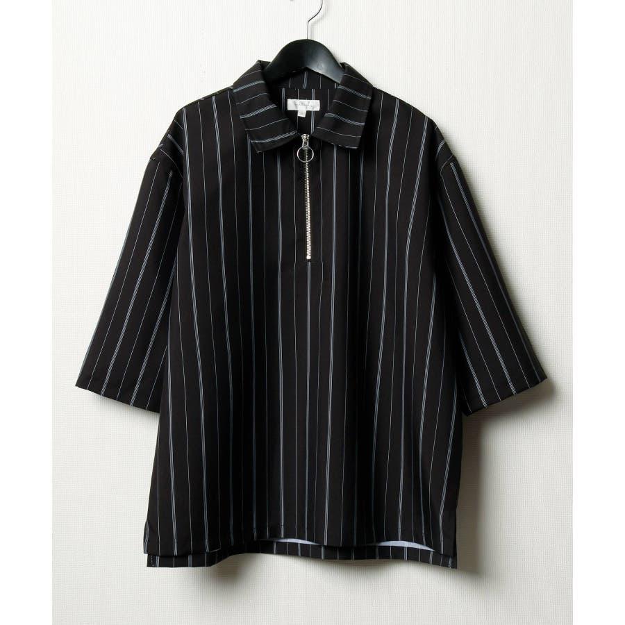 ポリトロ5分ハーフジップシャツ【160202bn】 21