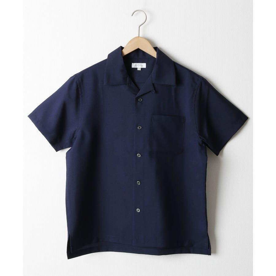 ポリトロ半袖オープンカラーシャツ【160203bn】 64