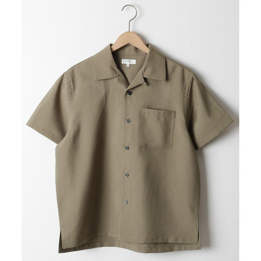 ポリトロ半袖オープンカラーシャツ【160203bn】 53