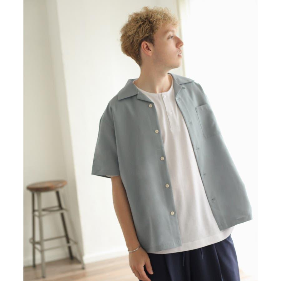 ポリトロ半袖オープンカラーシャツ【160203bn】 76