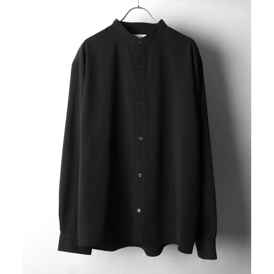 ドレープポリトロバンドカラーシャツ【170207】 21