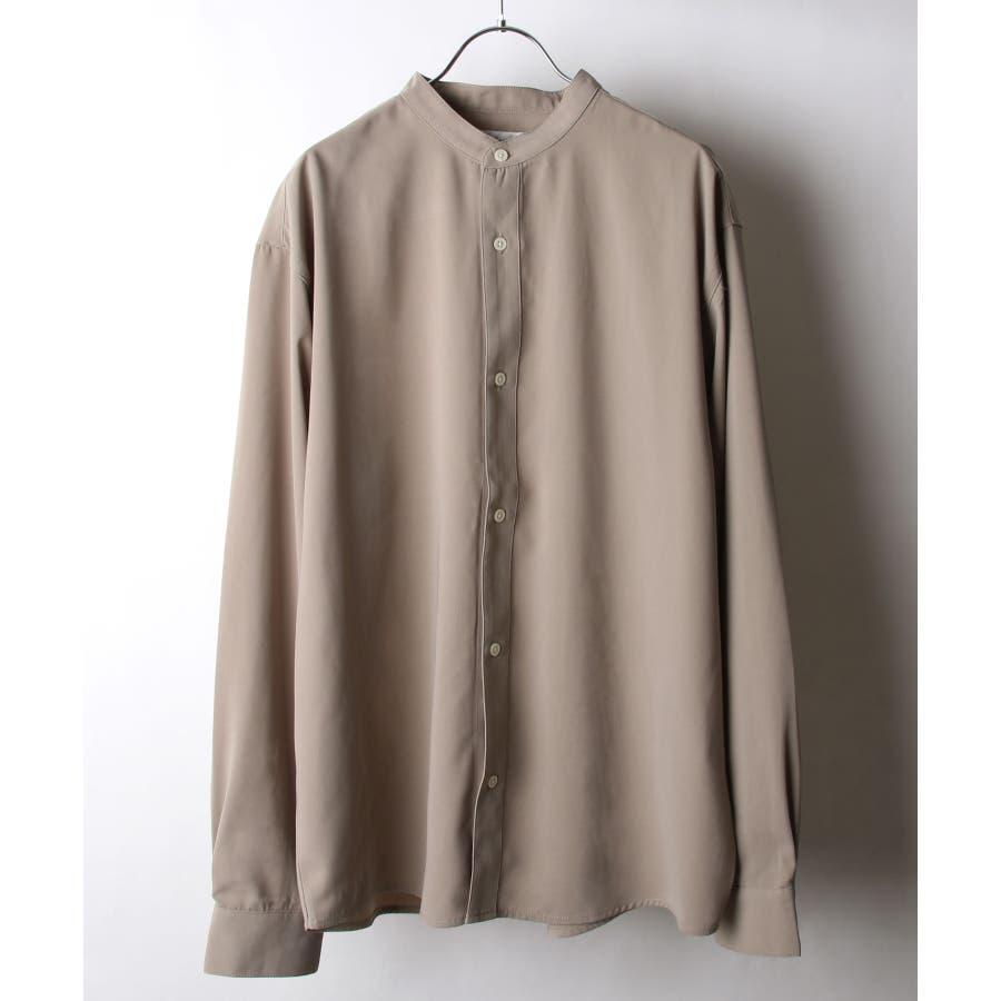 ドレープポリトロバンドカラーシャツ【170207】 41