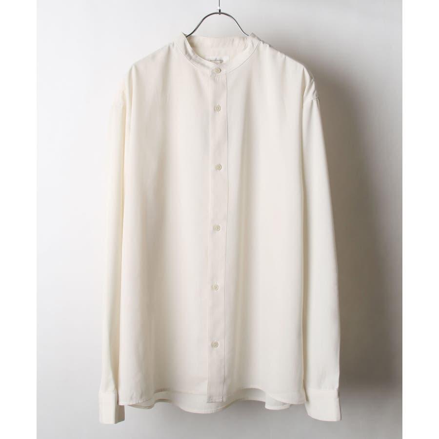 ドレープポリトロバンドカラーシャツ【170207】 20