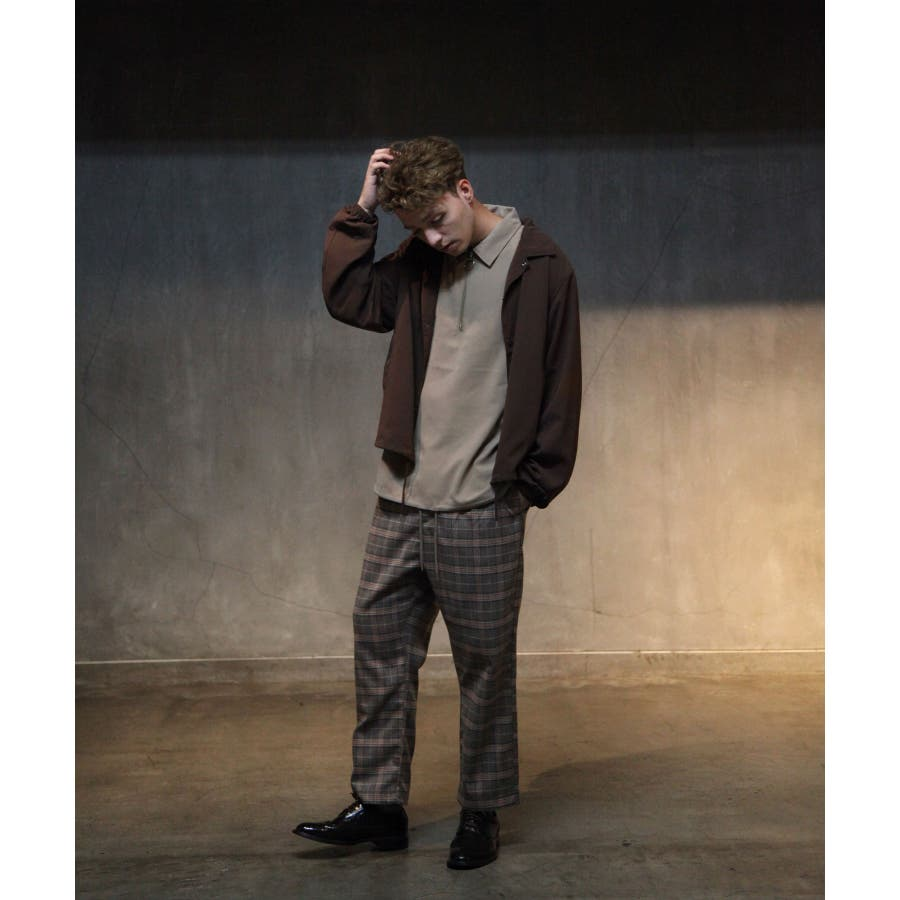 ドレープポリトロ裾スピンドルハーフジップシャツ【170208】 9