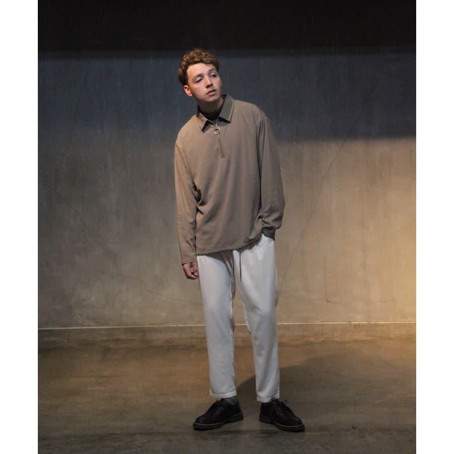 ドレープポリトロ裾スピンドルハーフジップシャツ【170208】 10
