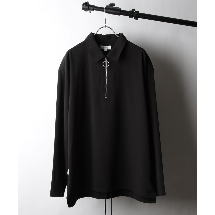 ドレープポリトロ裾スピンドルハーフジップシャツ【170208】 21