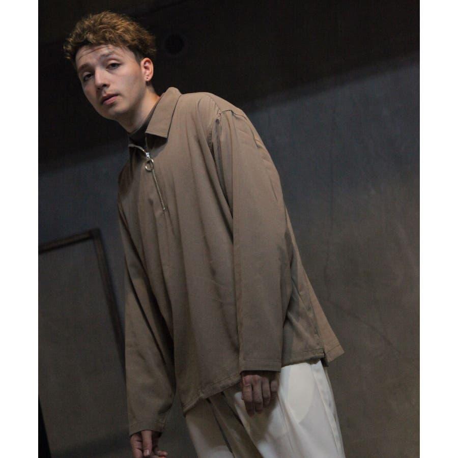 ドレープポリトロ裾スピンドルハーフジップシャツ【170208】 28