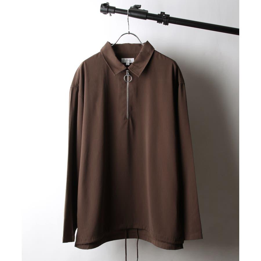 ドレープポリトロ裾スピンドルハーフジップシャツ【170208】 29