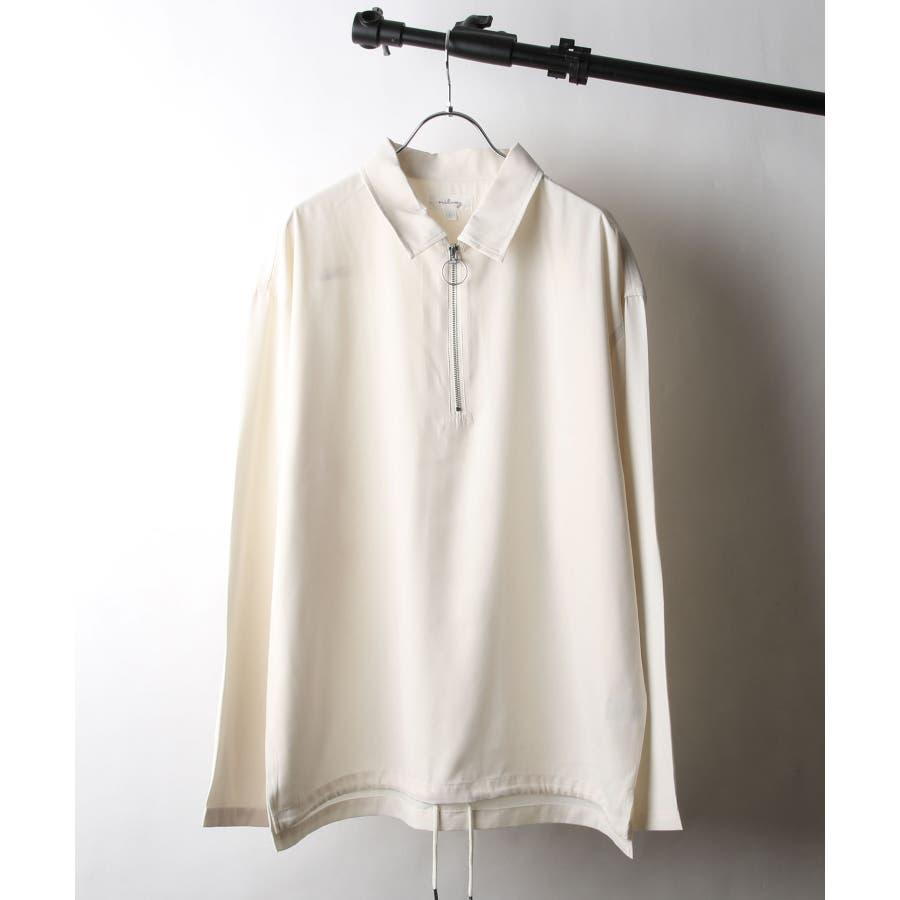 ドレープポリトロ裾スピンドルハーフジップシャツ【170208】 20