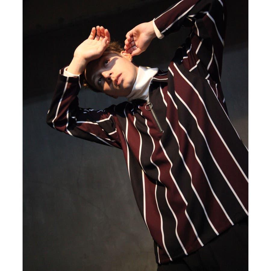 ドレープポリトロ裾スピンドルハーフジップシャツ【170208】 6
