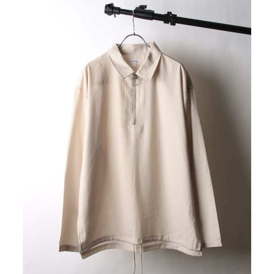 ドレープポリトロ裾スピンドルハーフジップシャツ【170208】 41