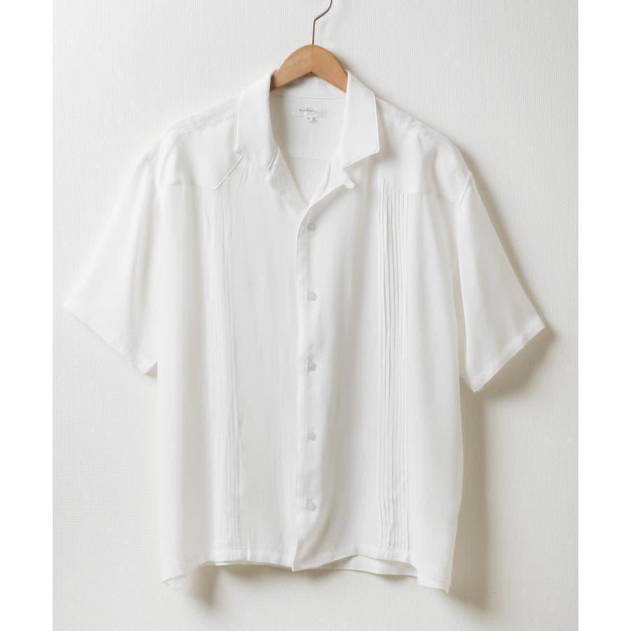 5分袖ピンタックキューバシャツ【171936bn】 16