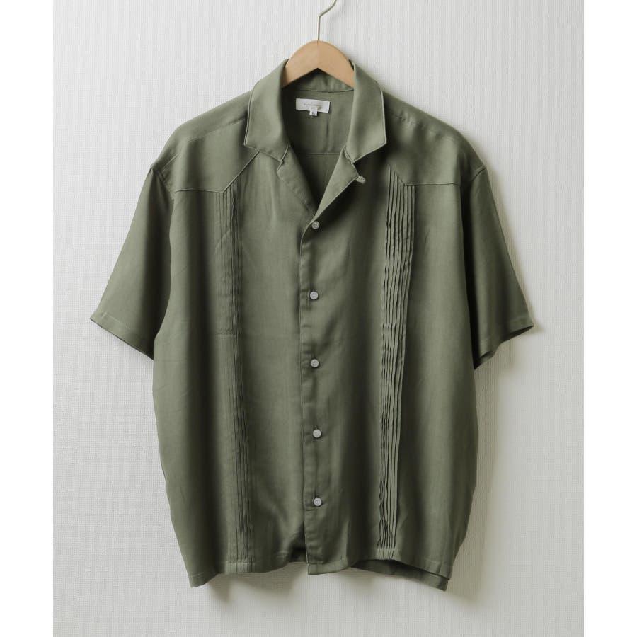 5分袖ピンタックキューバシャツ【171936bn】 53