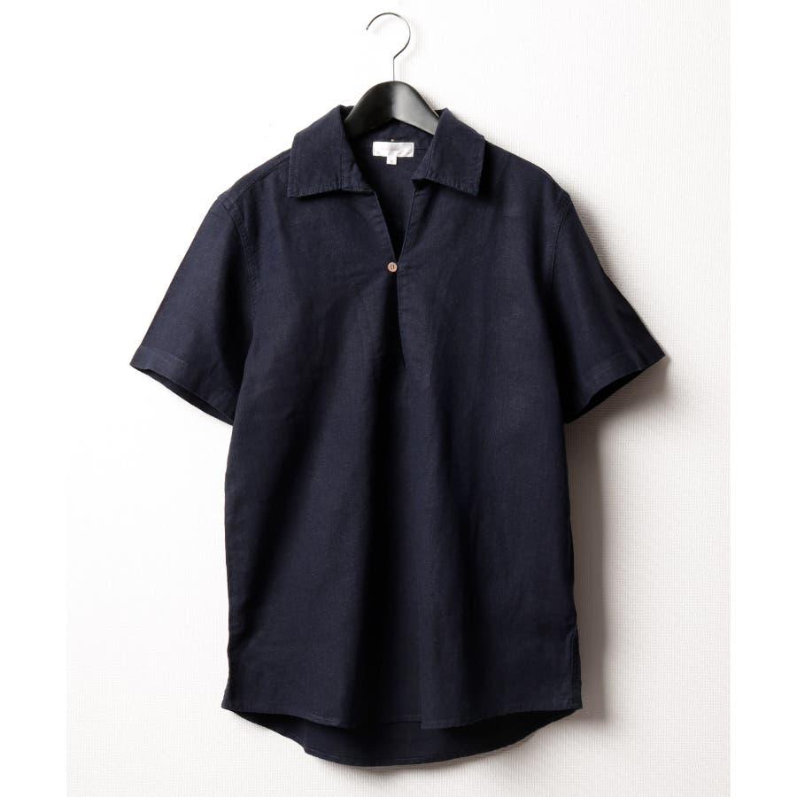 フレンチリネンカプリ半袖シャツ【19010-12nz】 64