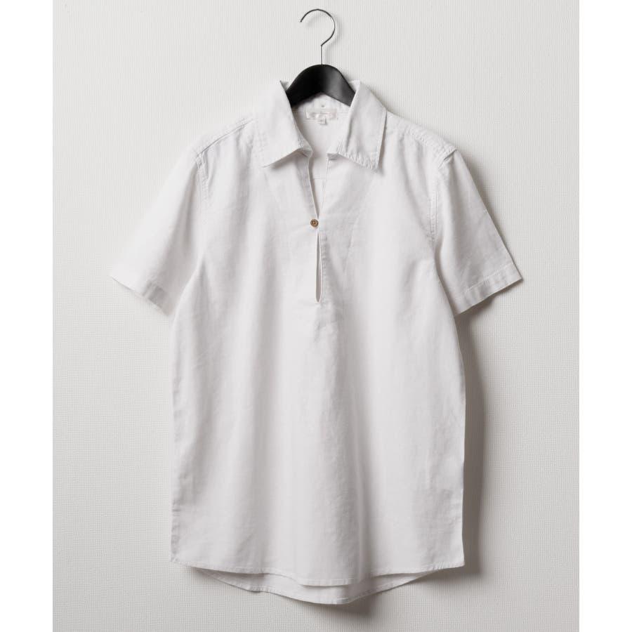フレンチリネンカプリ半袖シャツ【19010-12nz】 16