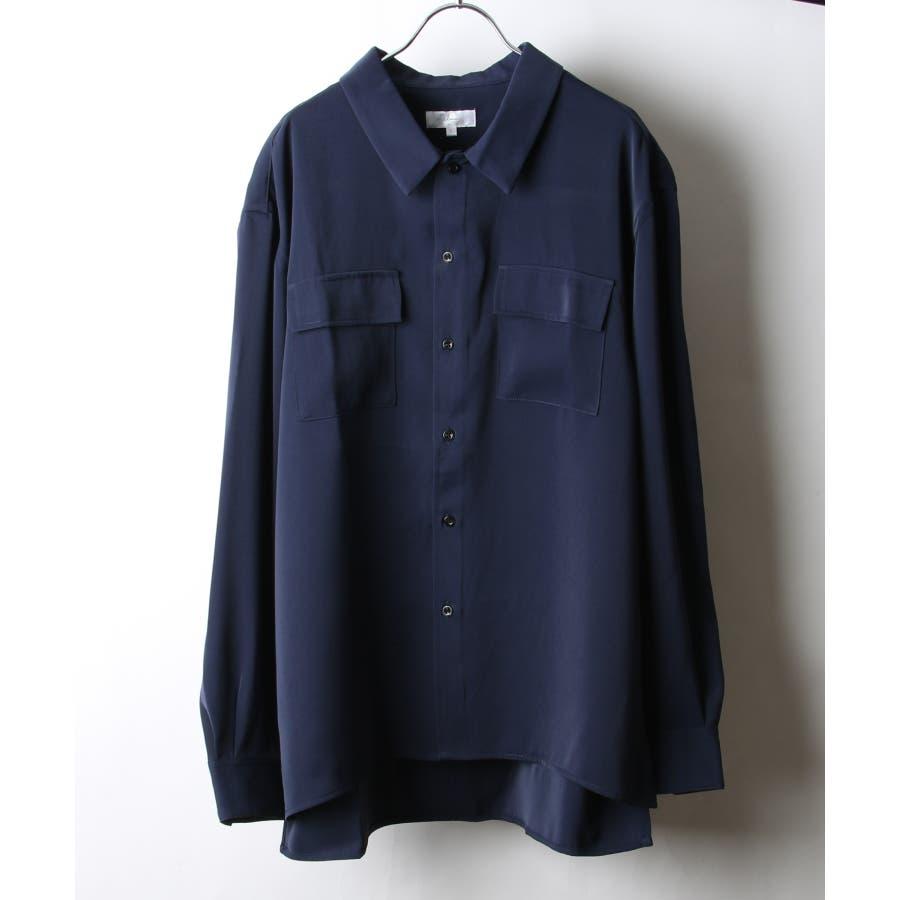 ドレープスムースフラップポケットシャツ【19030-32nz】 64