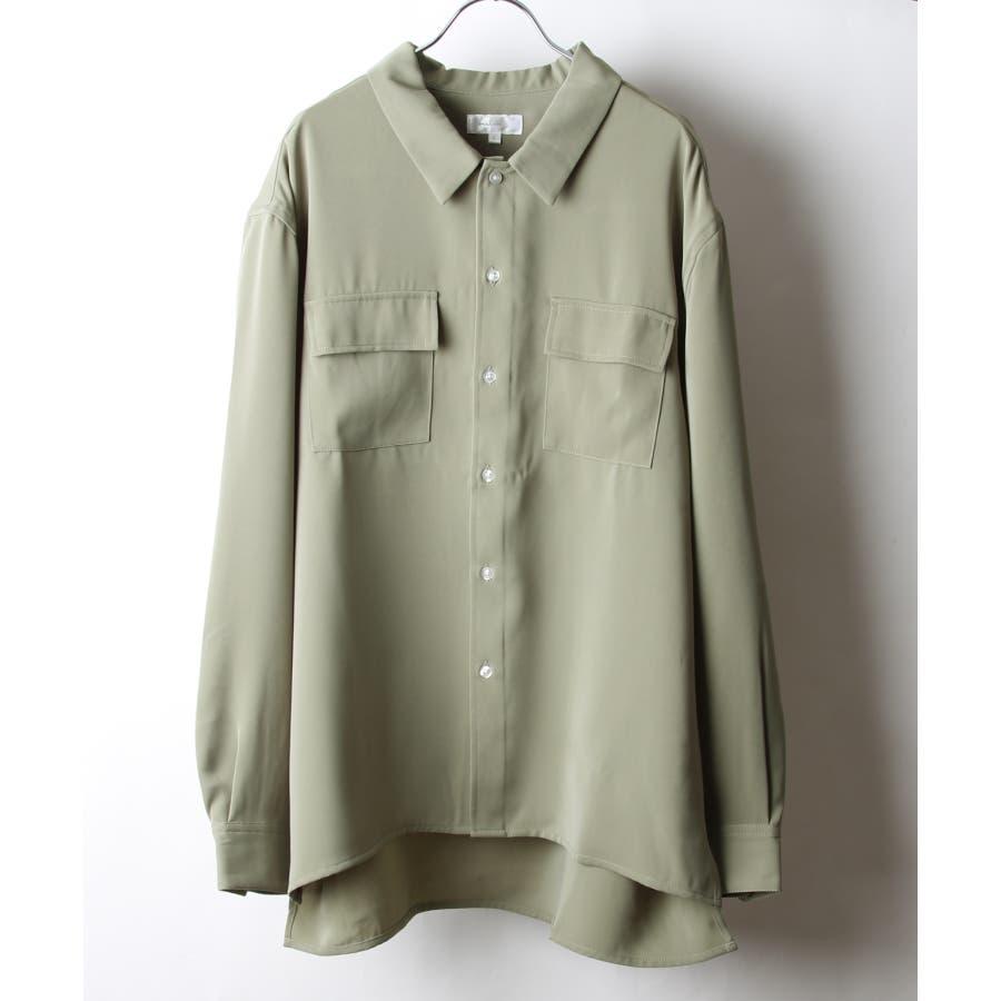 ドレープスムースフラップポケットシャツ【19030-32nz】 53