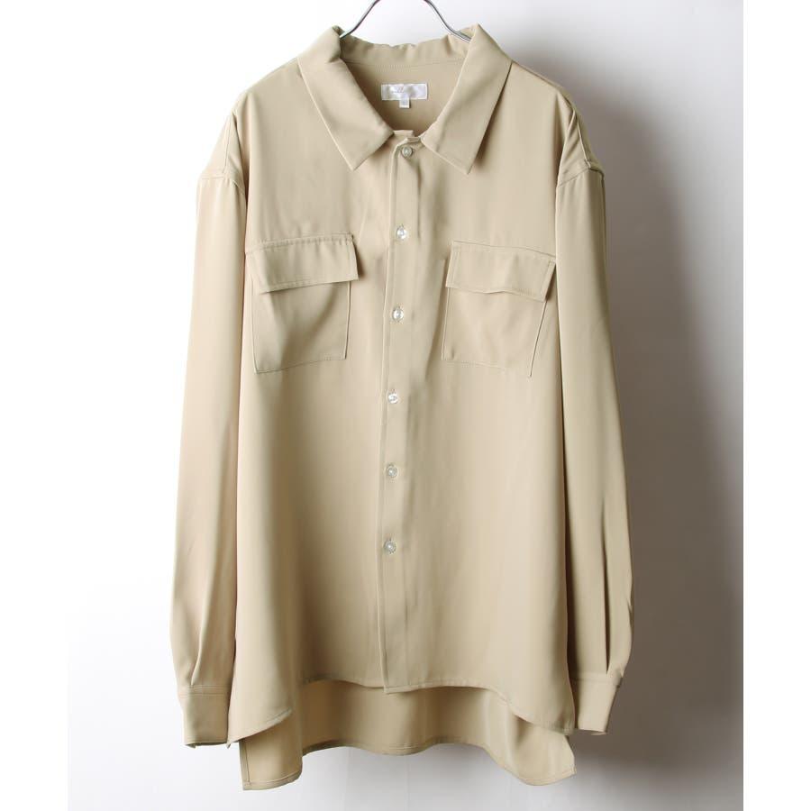 ドレープスムースフラップポケットシャツ【19030-32nz】 41