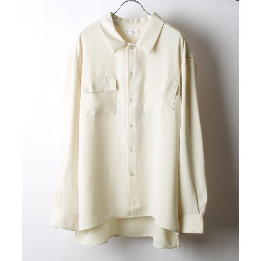 ドレープスムースフラップポケットシャツ【19030-32nz】 20