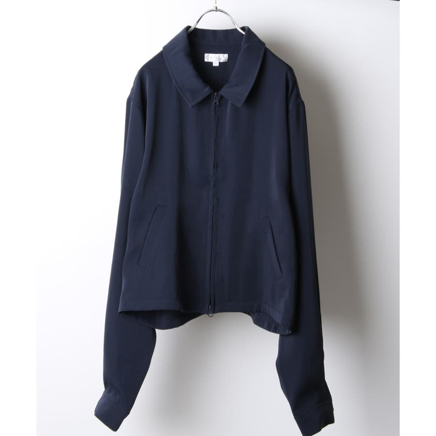 ドレープスムースショート丈ドリズラーシャツジャケット【19032-34nz】 64