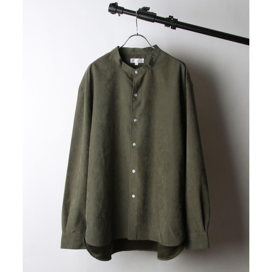 ピーチ加工微起毛バンドカラーシャツ【19035-32nz】 53