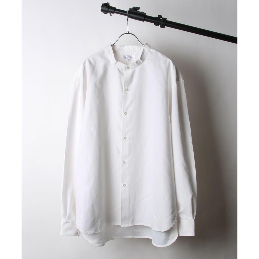 ピーチ加工微起毛バンドカラーシャツ【19035-32nz】 16