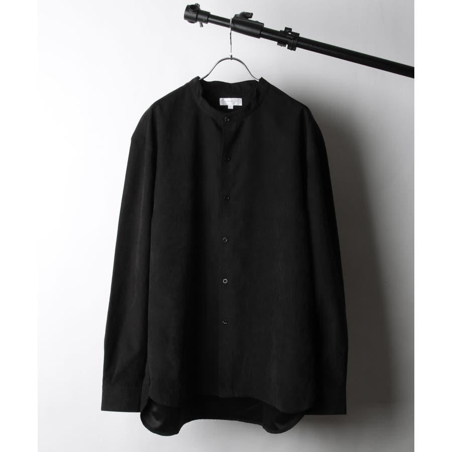 ピーチ加工微起毛バンドカラーシャツ【19035-32nz】 21