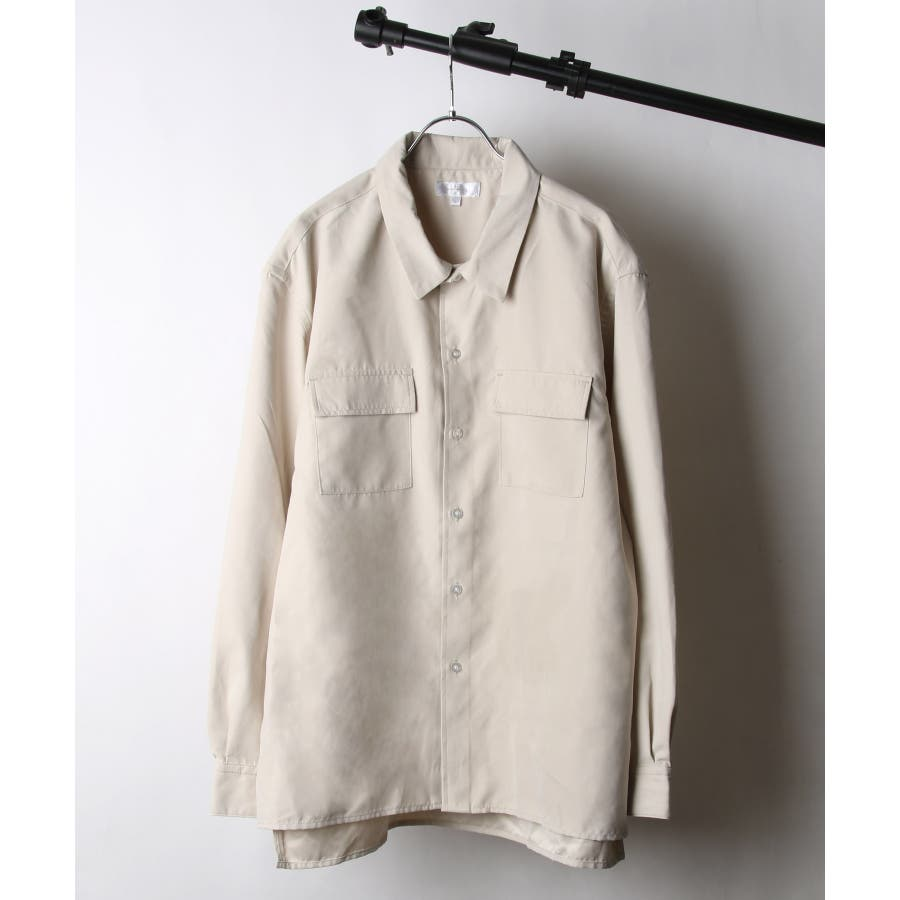 ピーチ加工微起毛フラップ付きレギュラーシャツ【19036-32nz】 41