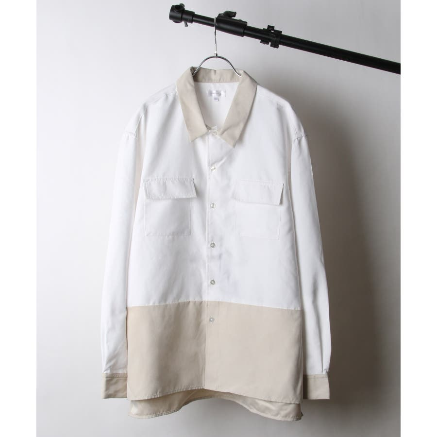 ピーチ加工微起毛フラップ付きレギュラーシャツ【19036-32nz】 16