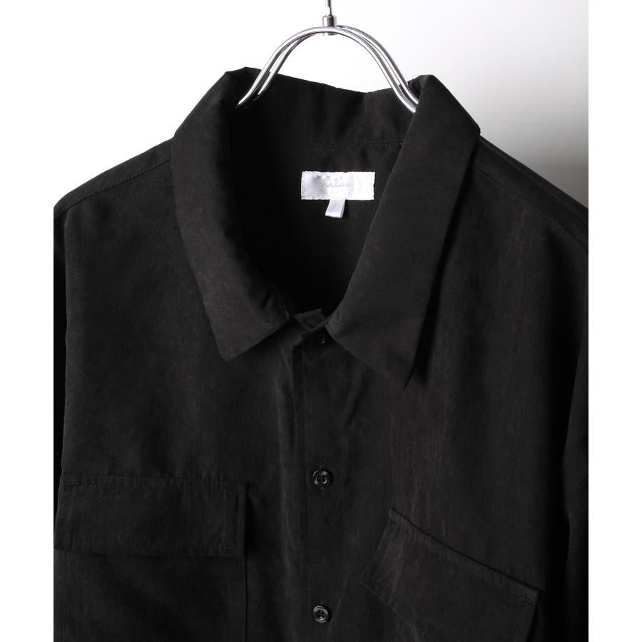 ピーチ加工微起毛フラップ付きレギュラーシャツ【19036-32nz】 9