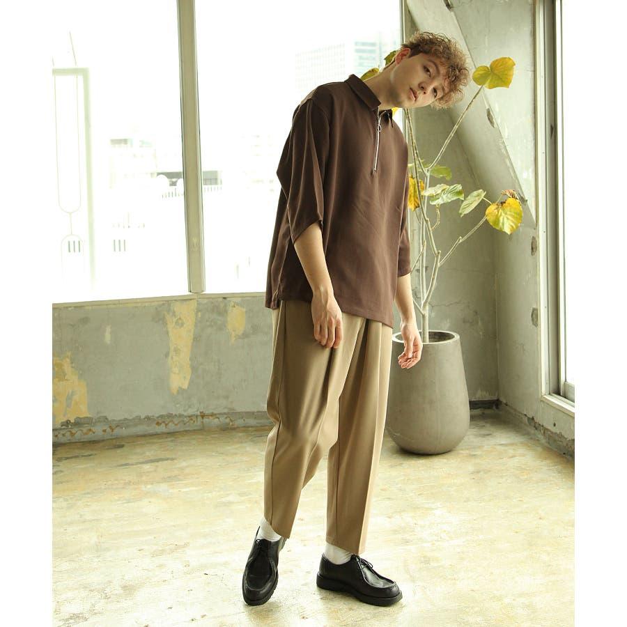 シャツ カジュアルシャツ ハーフジップ ポリトロ メンズ Nilway ニルウェイ【191941bn】 9