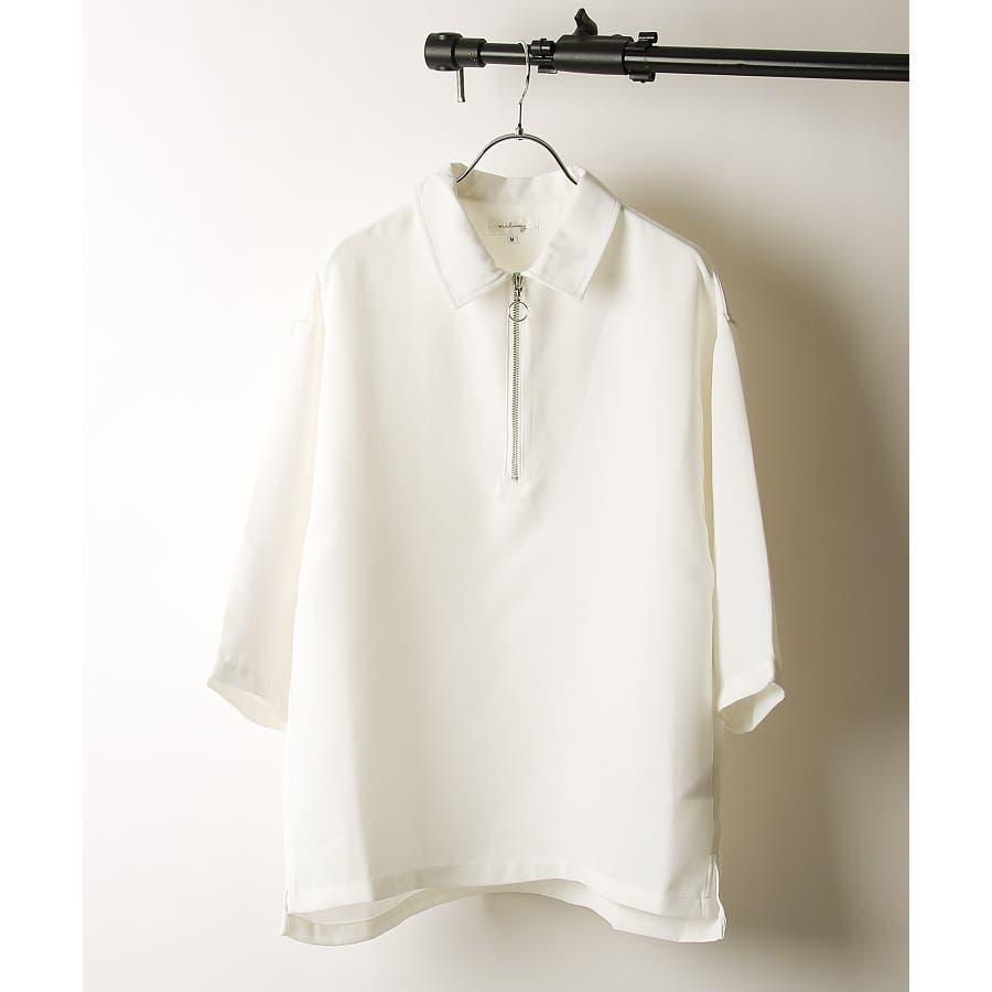 シャツ カジュアルシャツ ハーフジップ ポリトロ メンズ Nilway ニルウェイ【191941bn】 16