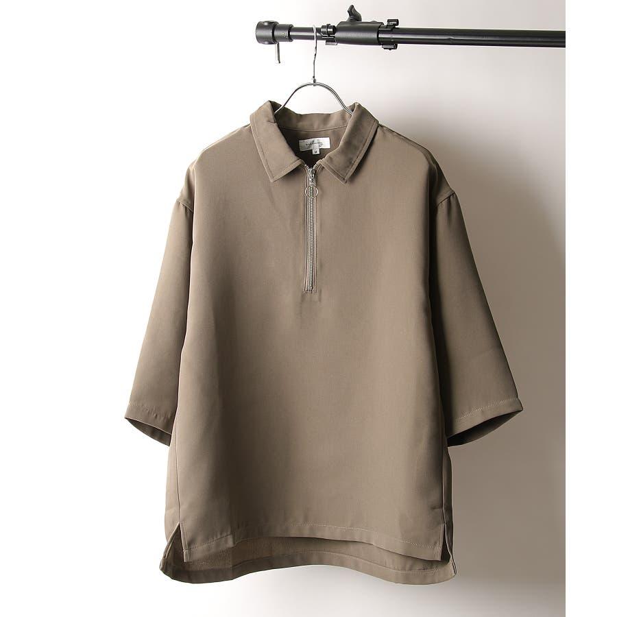 シャツ カジュアルシャツ ハーフジップ ポリトロ メンズ Nilway ニルウェイ【191941bn】 28