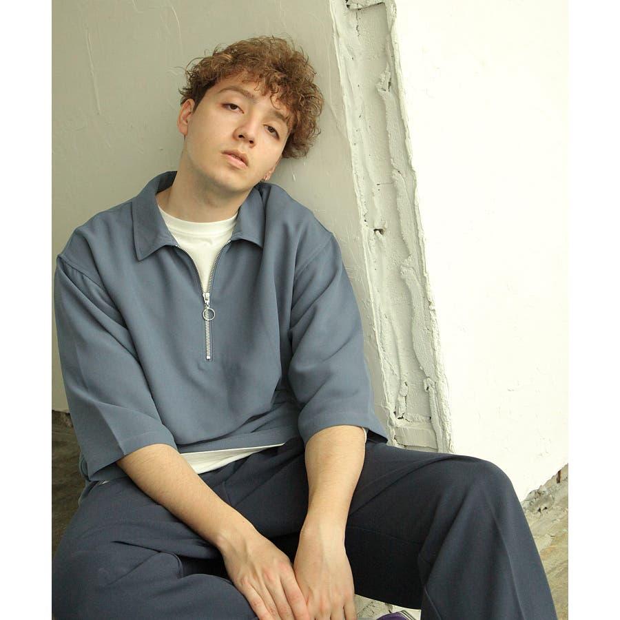 シャツ カジュアルシャツ ハーフジップ ポリトロ メンズ Nilway ニルウェイ【191941bn】 59