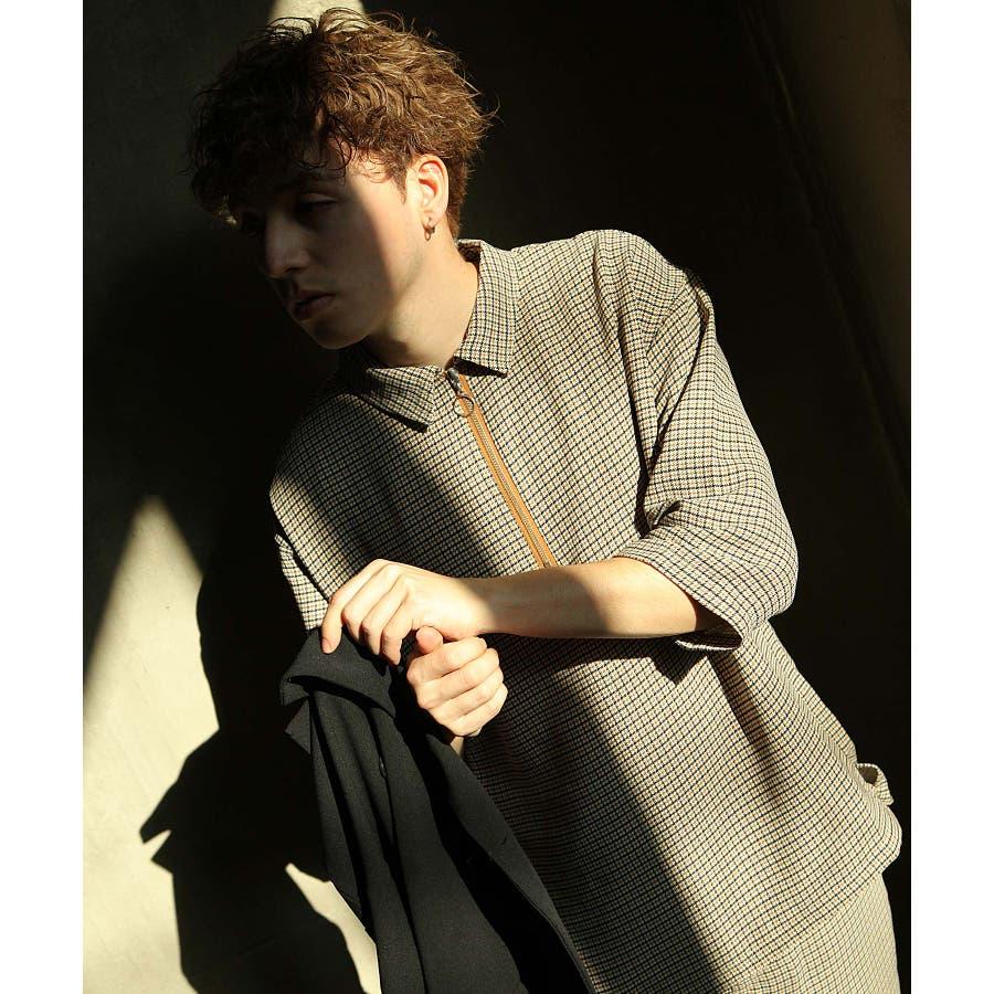 シャツ カジュアルシャツ ハーフジップ ポリトロ メンズ Nilway ニルウェイ【191941bn】 46