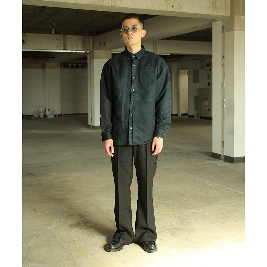 シャツ カジュアルシャツ ビッグシャツ ビッグシルエット アシンメトリー メンズ Nilway【191944bn】 5