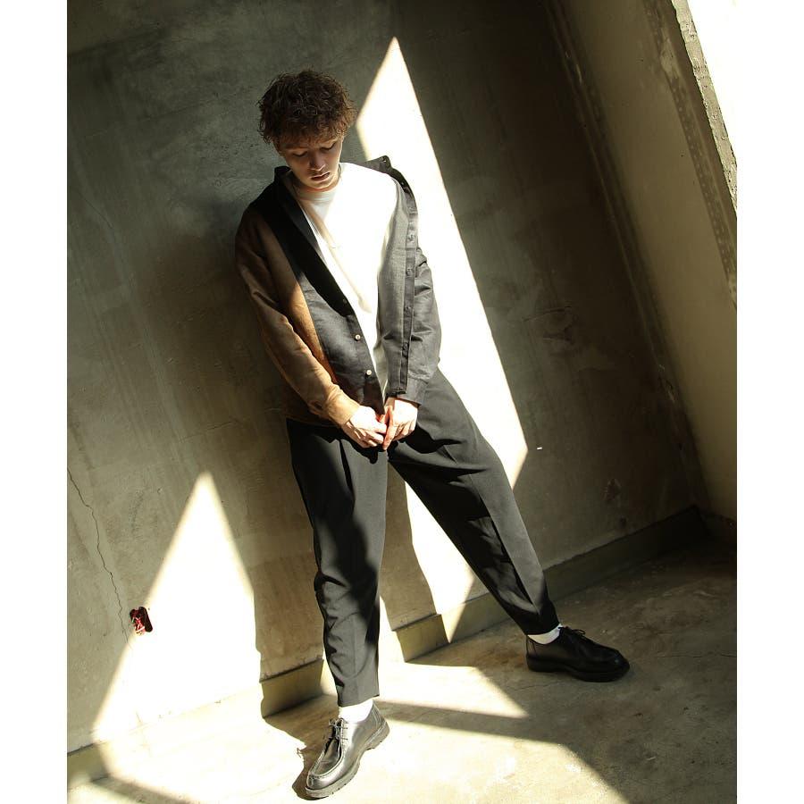 シャツ カジュアルシャツ ビッグシャツ ビッグシルエット アシンメトリー メンズ Nilway【191944bn】 6