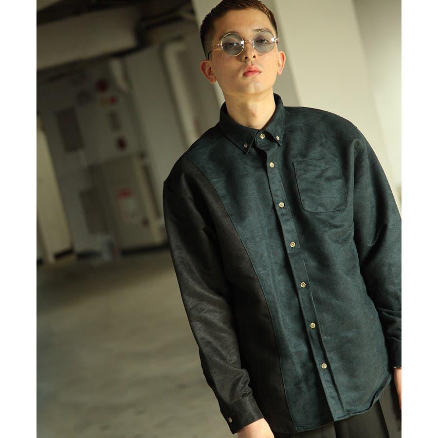 シャツ カジュアルシャツ ビッグシャツ ビッグシルエット アシンメトリー メンズ Nilway【191944bn】 64
