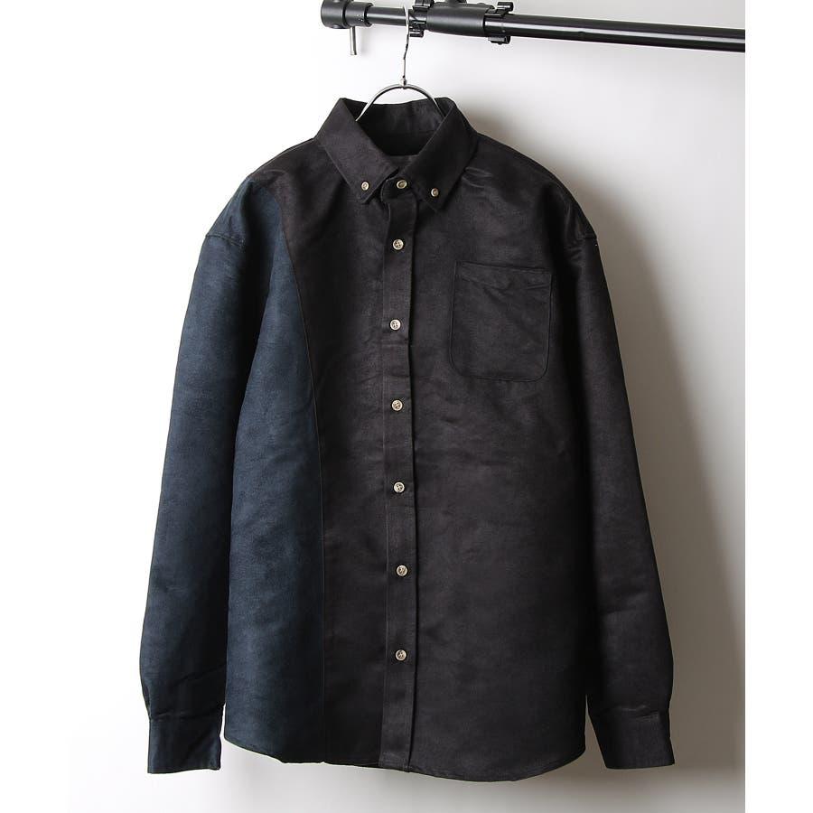 シャツ カジュアルシャツ ビッグシャツ ビッグシルエット アシンメトリー メンズ Nilway【191944bn】 21