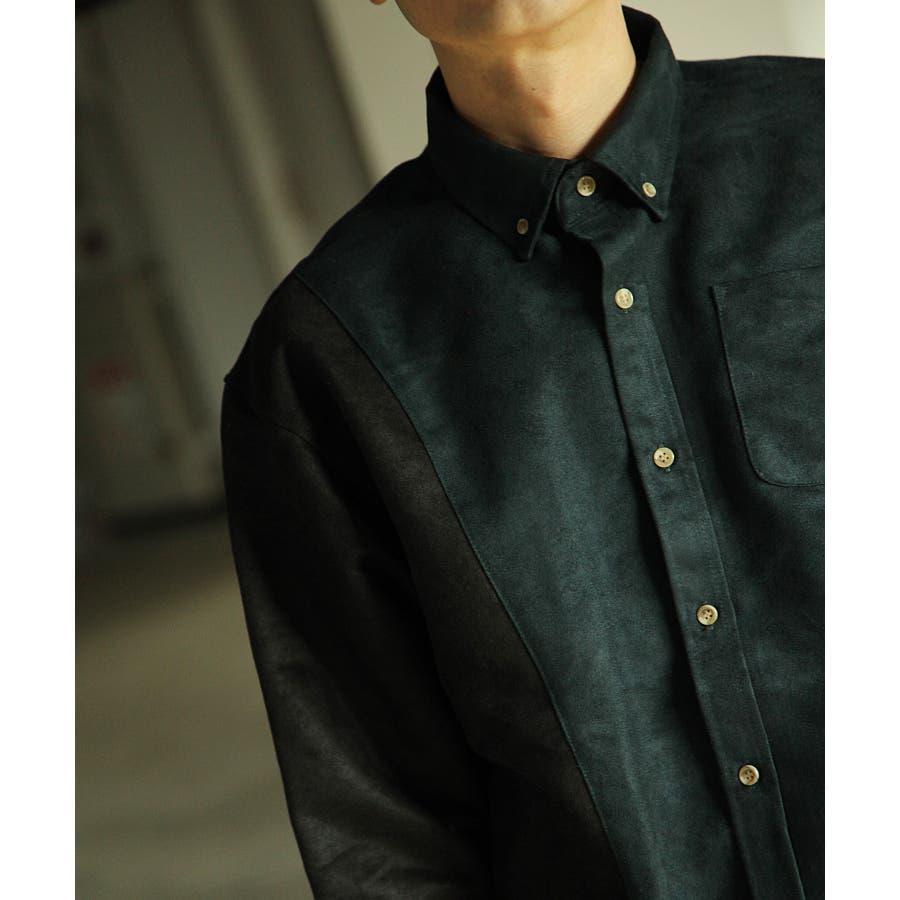 シャツ カジュアルシャツ ビッグシャツ ビッグシルエット アシンメトリー メンズ Nilway【191944bn】 7