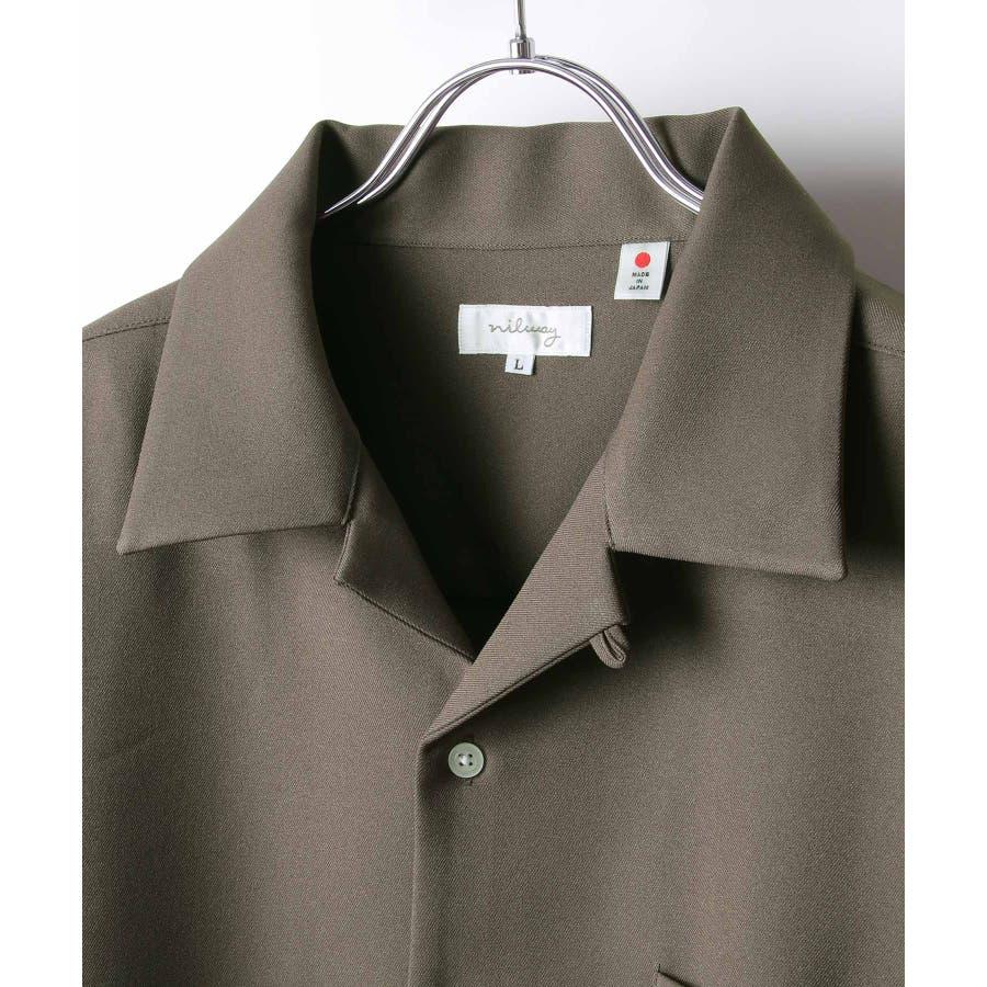Nilway ニルウェイ シャツ カジュアルシャツ オープンカラー 日本製 国産 メンズ 夏 夏物 夏服春服【20-ss-092】 5