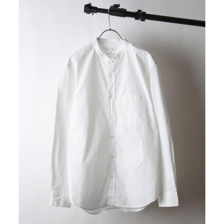 日本製タイプライターバンドカラーシャツ【28-115】 16
